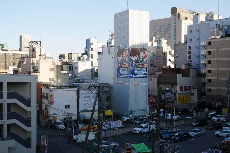 千葉都市モノレール 栄町駅 ソープランド街を眺める